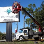 GUSC signage installation